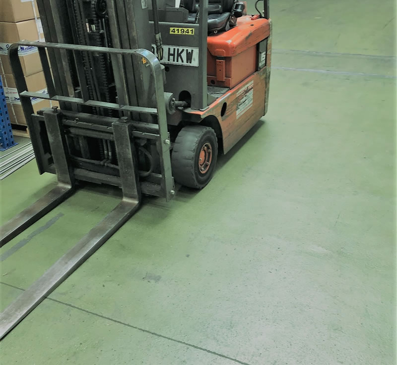 Resin Flooring installed at a warehouse over 20 years ago