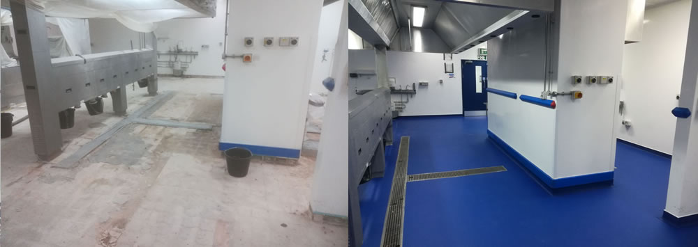 why choose resin flooring before and after photos at hospital