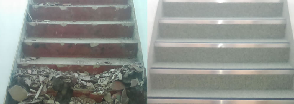 why choose resin flooring before and after photos for staircase