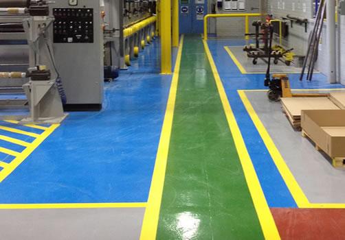 demarcation resin flooring line marking