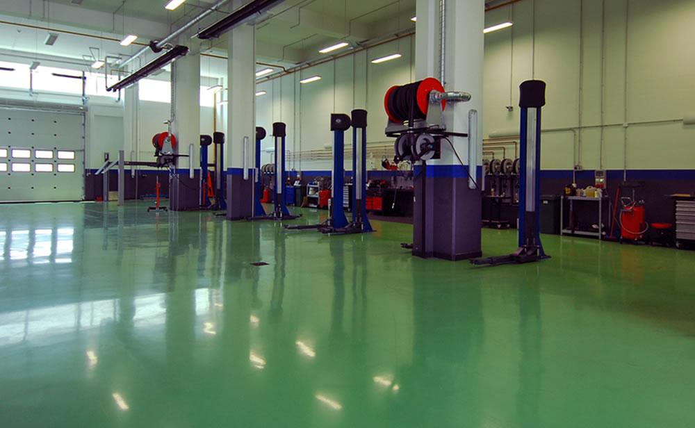 automotive resin flooring