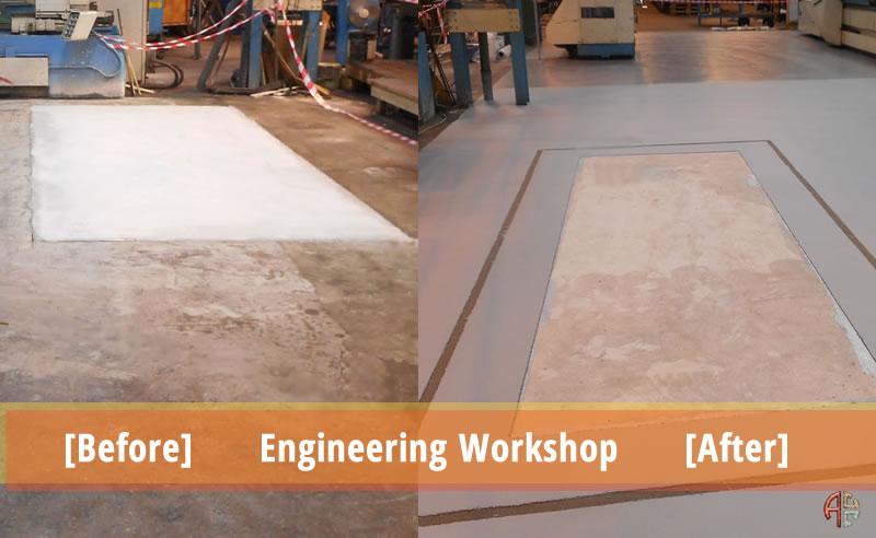 engineering workshop resin flooring contractors