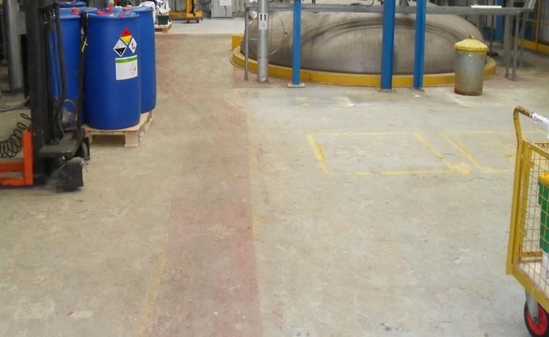 chemical plant epoxy coating ferfa type 3 demarcation