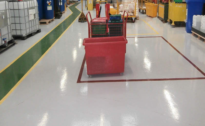 chemical plant epoxy coating ferfa type 3 screed