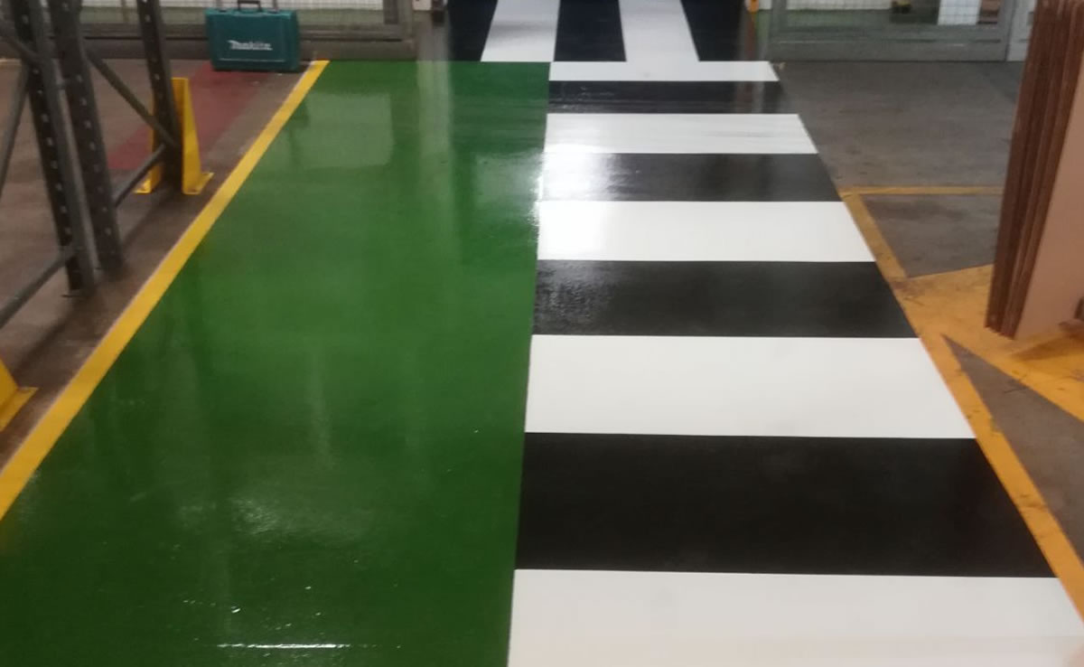 high build epoxy flooring demarcation pharmaceutical company