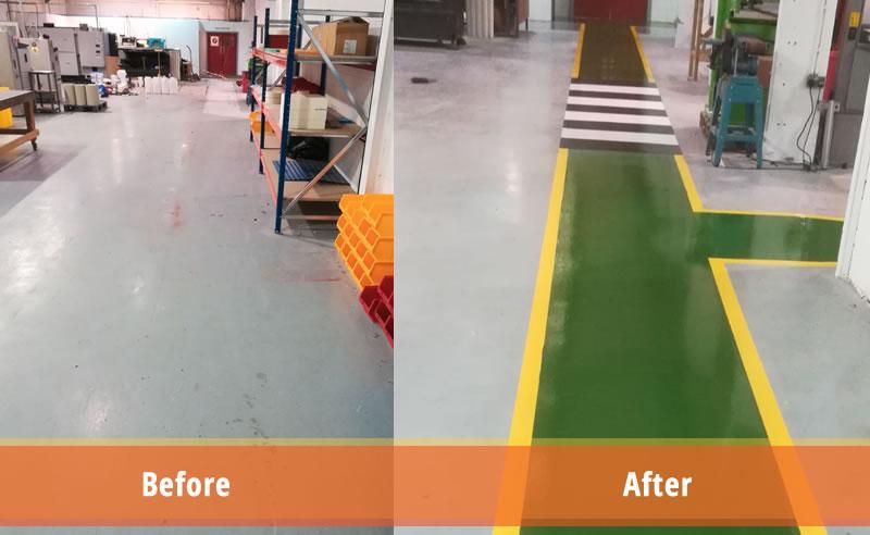 high build epoxy flooring demarcation plastics manufacturer demarcation