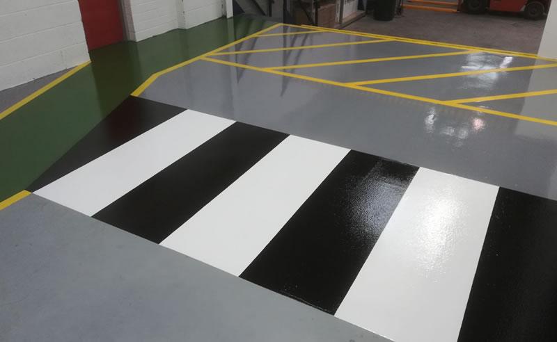 high build epoxy flooring demarcation plastics manufacturer resin
