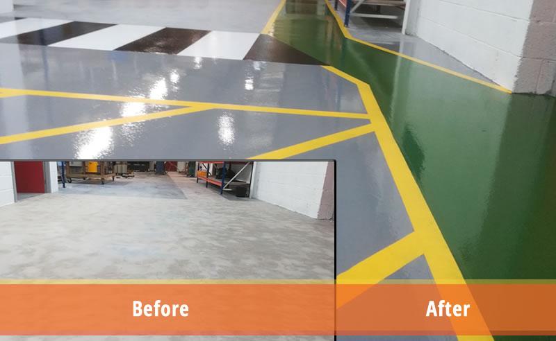 high build epoxy flooring demarcation plastics manufacturer safety yellow demarcation