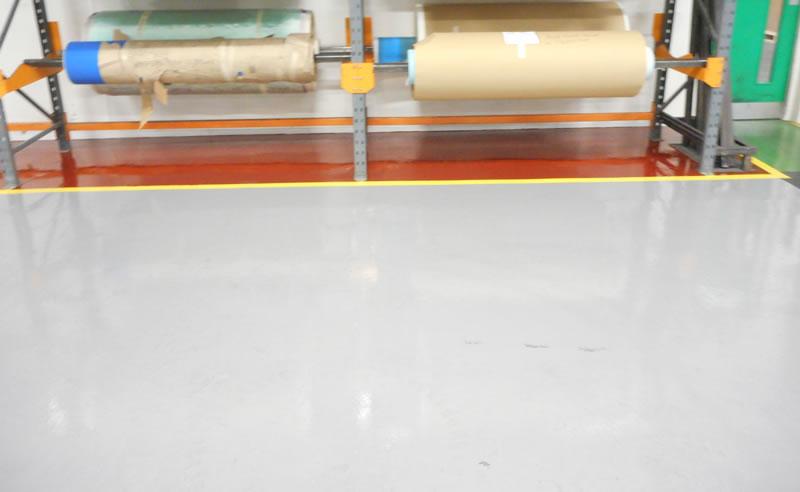 Completed resin flooring for transmission belt manufacturer