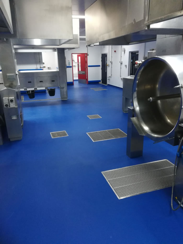 Picture showing completed resin flooring installation with equipment in place