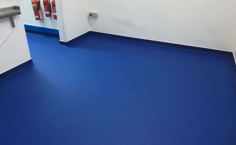 Completed resin flooring installation at Sheffield Teaching Hospital