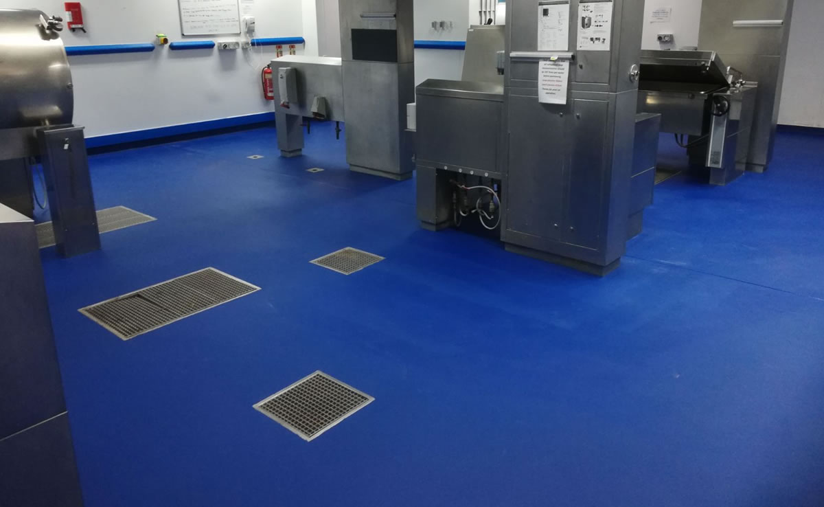 Completed installation of resin flooring at Sheffield Teaching Hospital