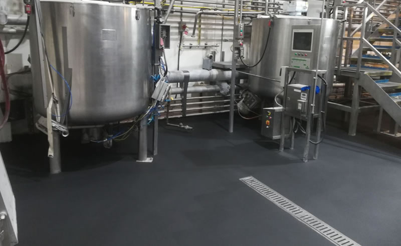 Completed a resin flooring installation at a health and beauty manufacturer