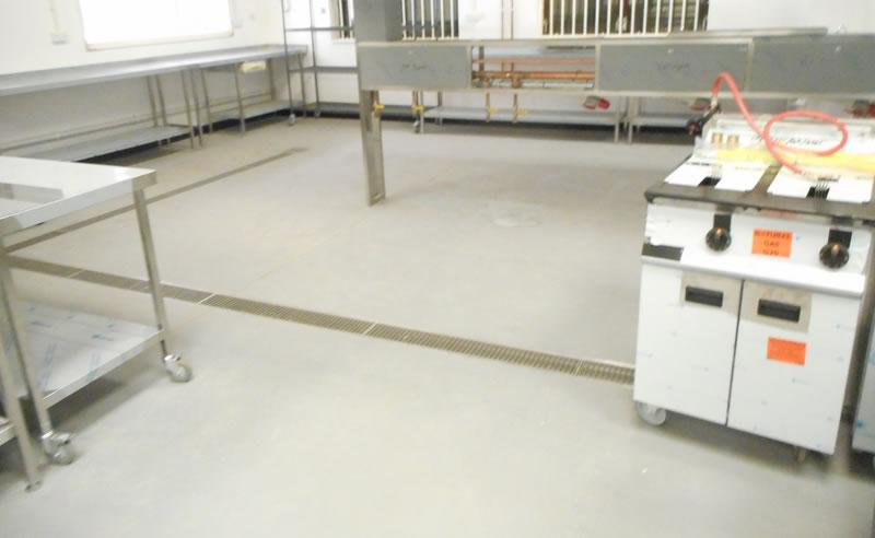 heavy duty polyurethane resin flooring preparation to drainage