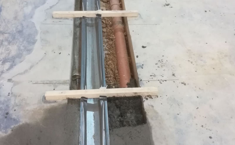 Starting to complete the initial preparation works for resin flooring
