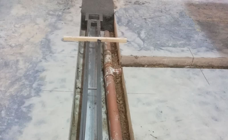 During the preparation stage of applying a resin flooring solution