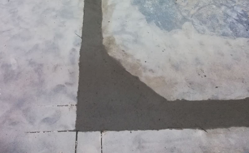 Completed preparation of concrete floor and drainage before laying the resin flooring solution
