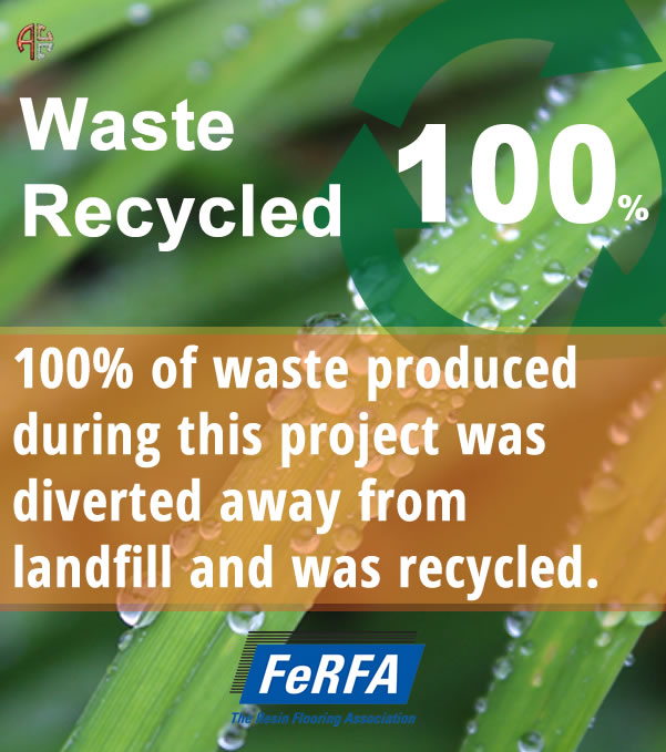 recycled waste on this project was recycled and diverted from landfill