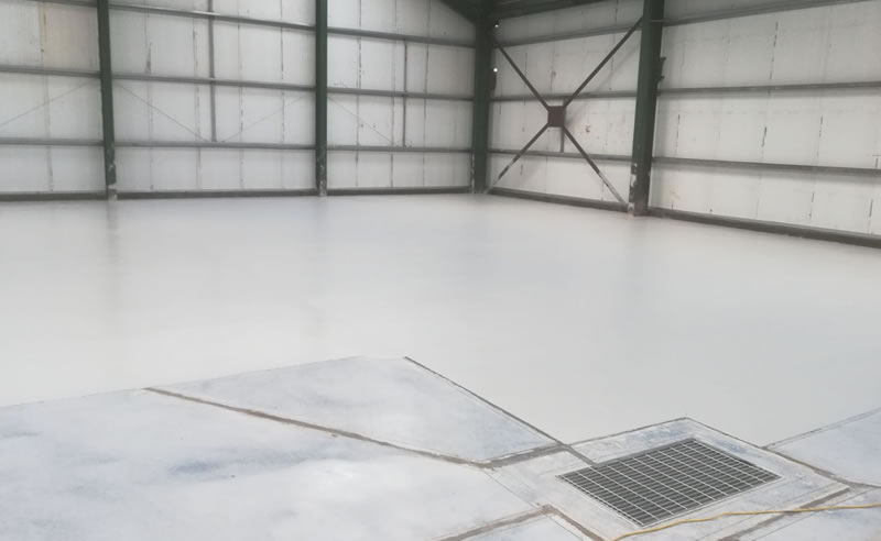 completion of the heavy duty polyurethane screed