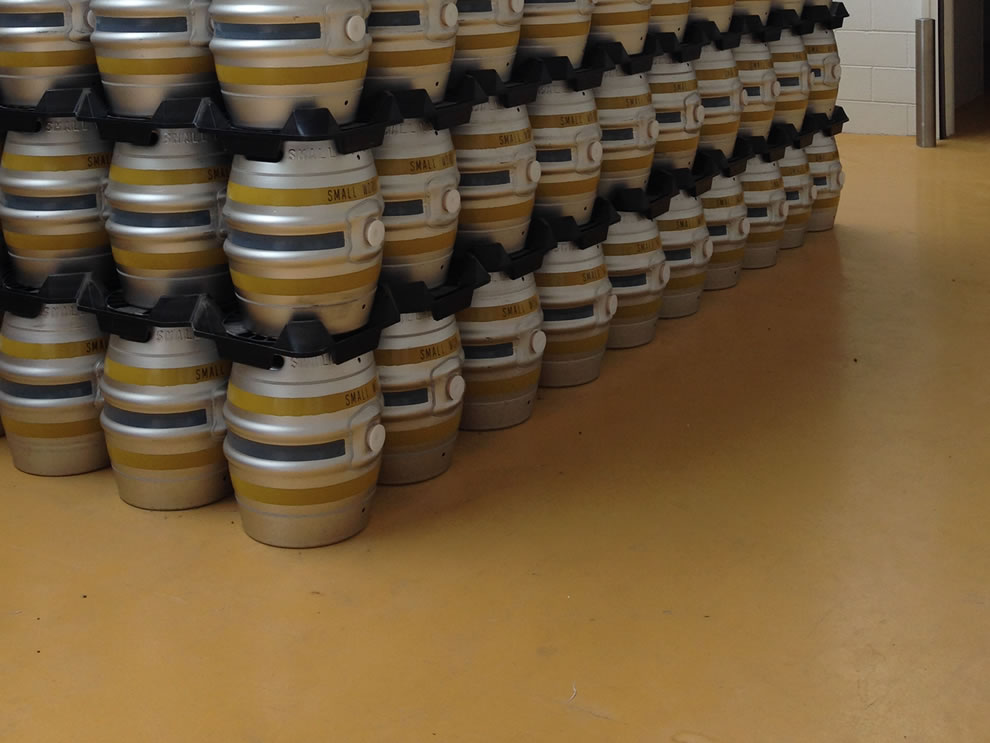 industrial resin flooring used in a brewery