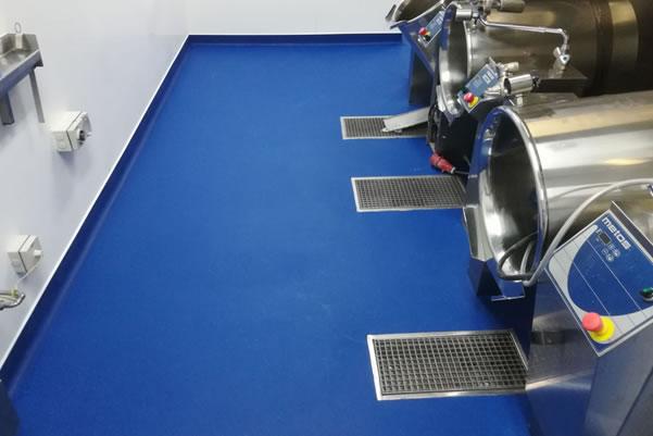 polyurethane flooring installation used in a kitchen
