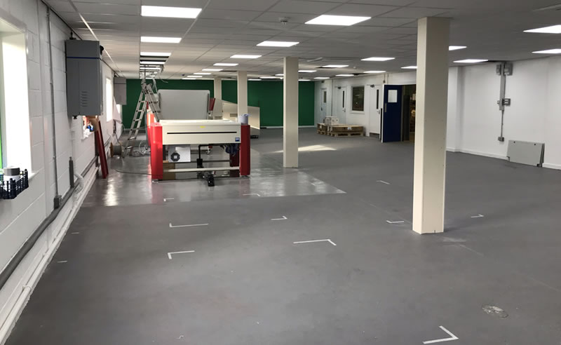 installing a heavy duty polyurethane at a magazine printers in yorkshire