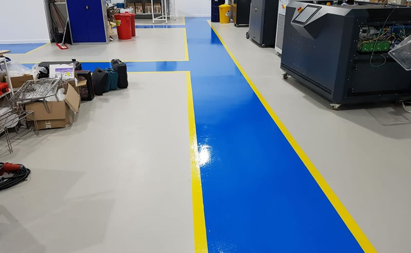 installing demarcation in a warehouse for foot traffic