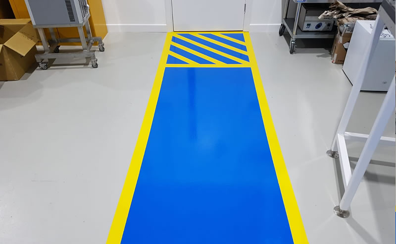 installing demarcation in a warehouse