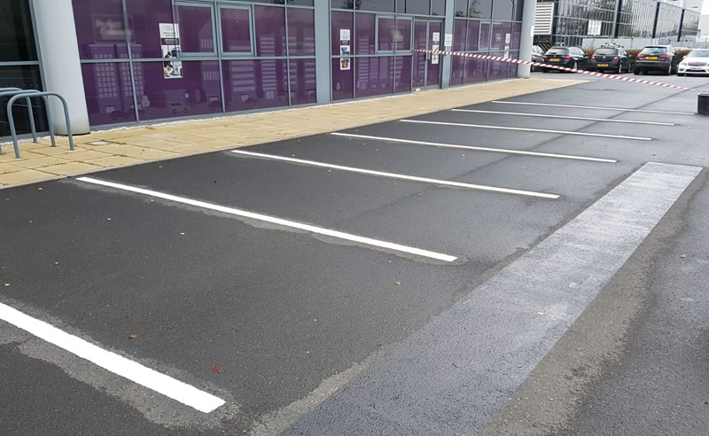 preparation work to parking bays