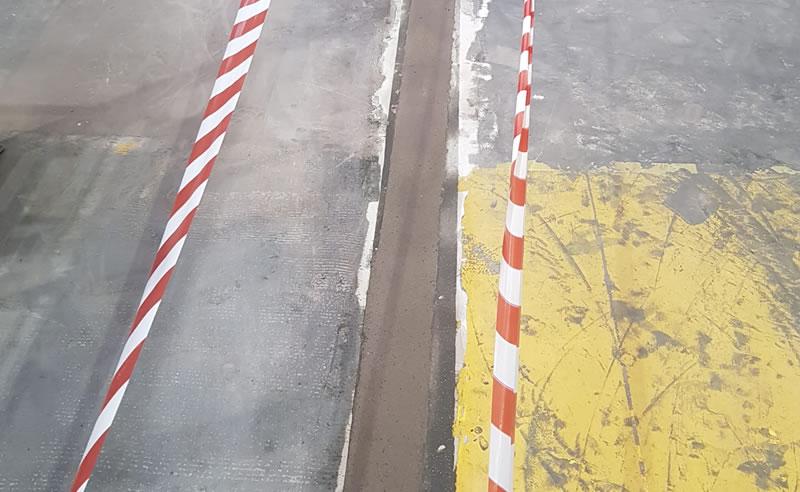 completed concrete floor repairs for industrial client in leeds