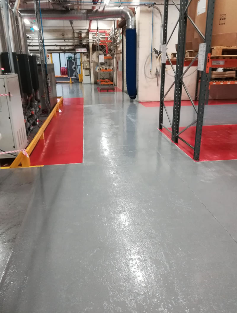 completed resin flooring showing the walkway