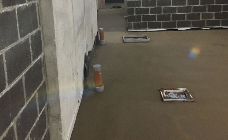 installation of screed before heavy duty resin flooring at an old mansion in ripon