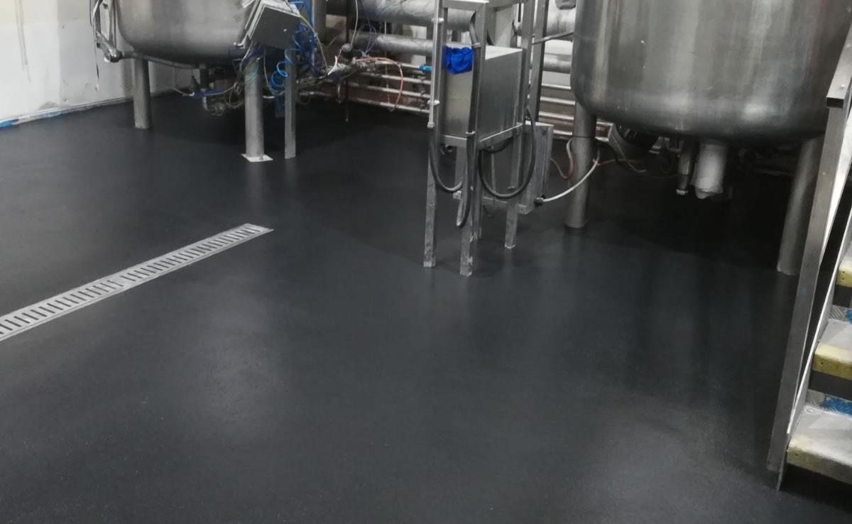 pharmaceutical flooring example in black
