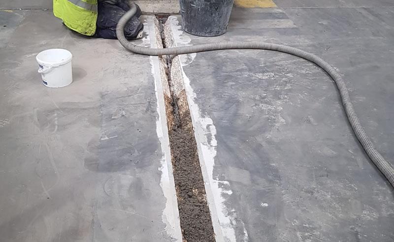 repairing a concrete floor for an industrial client in leeds