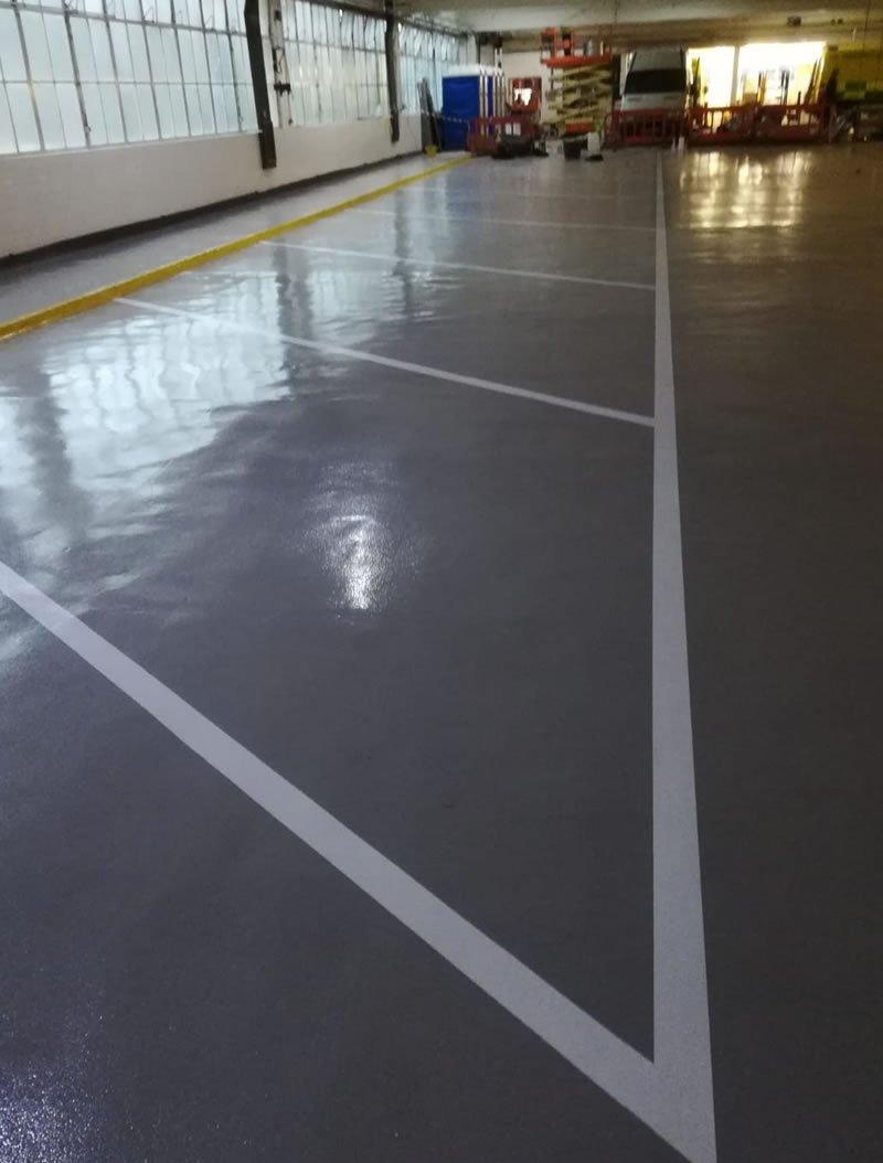 resin floor repairs for leeds and huddersfield ambulance hubs
