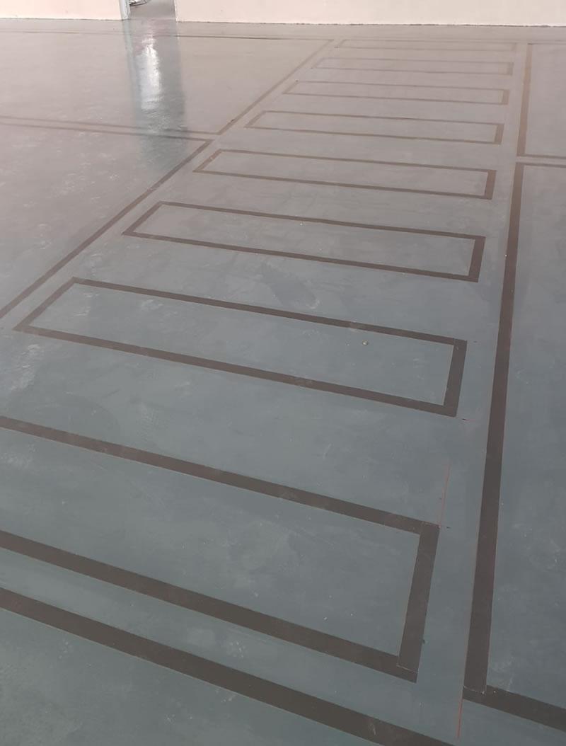 chemical resistant flooring for jaguar car dealership in newcastle upon tyne