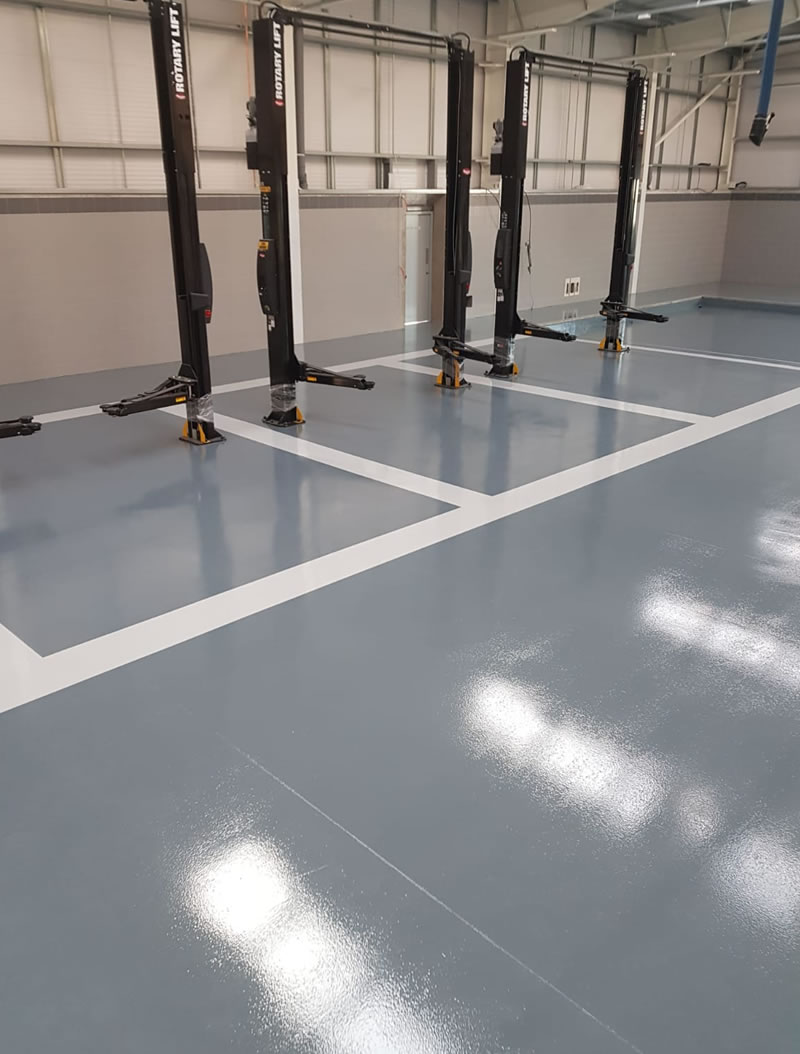 chemical resistant flooring with demarcation in newcastle upon tyne