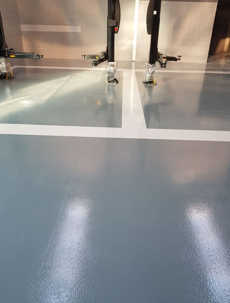 new resin floor installation that is chemical resistant ferfa type 3