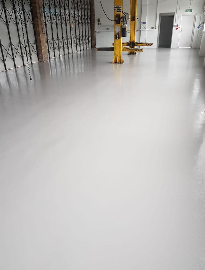 refurbished workshop floor to ambulance station in barnsley hoyland