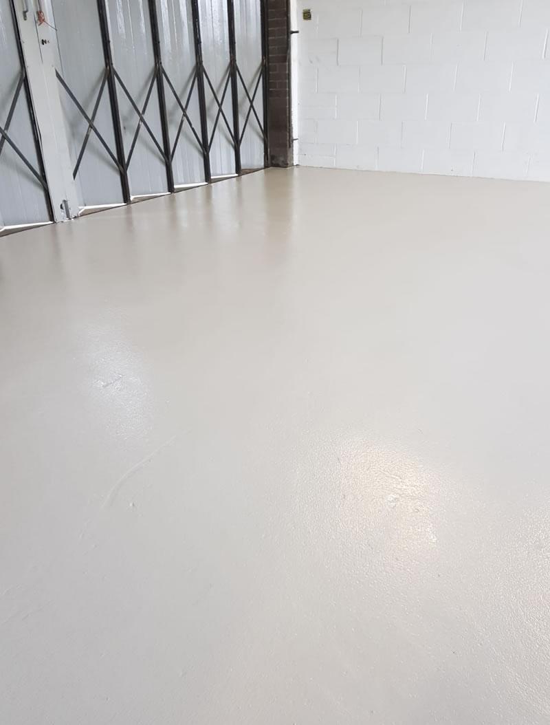 refurbished workshop floor