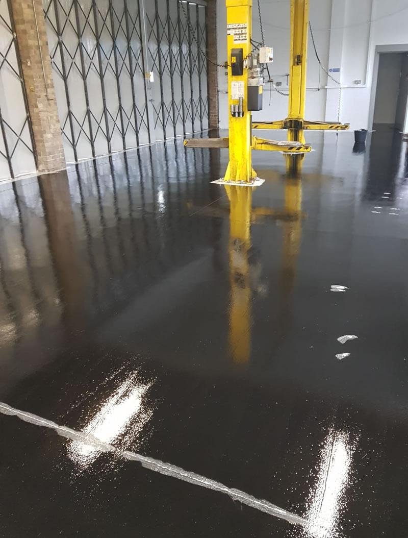 refurbishment of workshop floor to ambulance station in barnsley hoyland