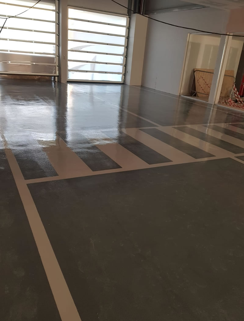 resin floor installation at jaguar land rover in newcastle upon tyne