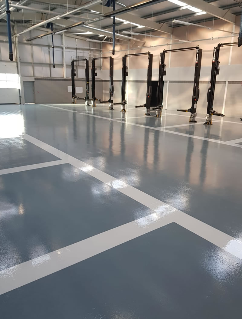 resin floor installation which is chemical resistant ferfa type 3