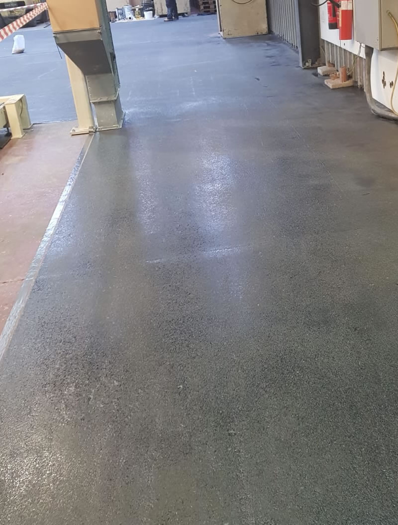 completed resin floor for a customer in hertfordshire