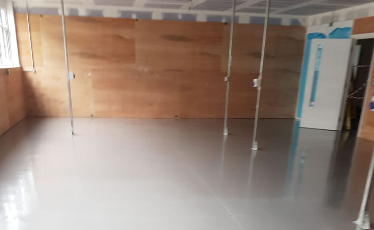 completed resin floor installation in yeovil somerset