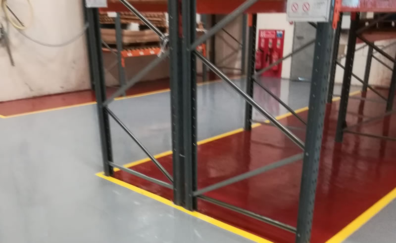 packaging flooring example in a loading area