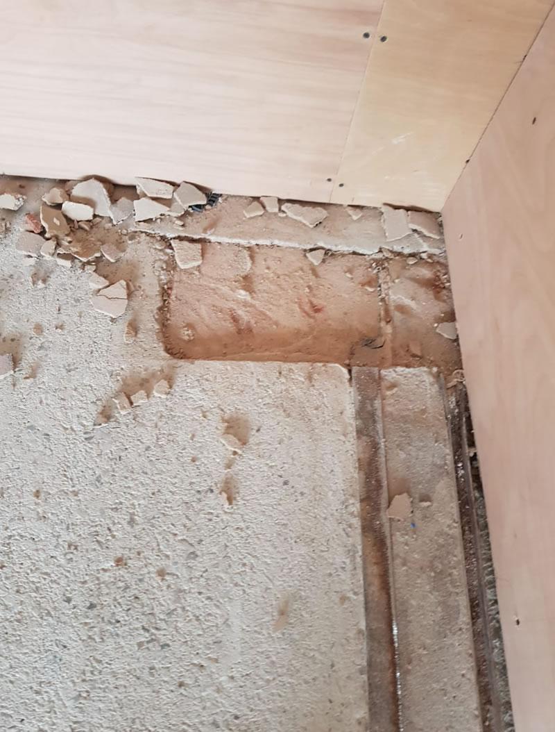 preparation works to concrete floor in yeovil somerset