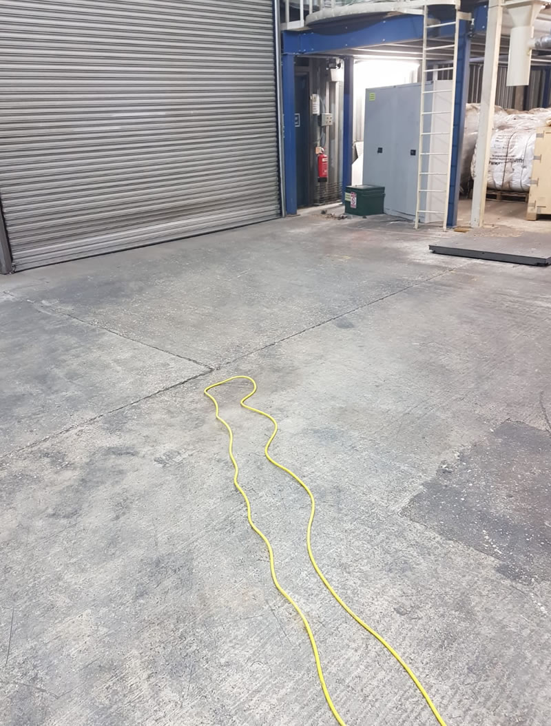 showing before concrete repairs were started for a customer in hertfordshire
