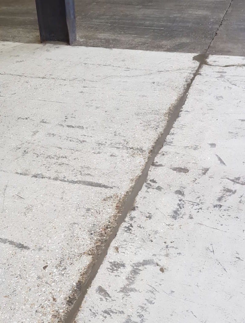 showing concrete repairs for a customer in hertfordshire