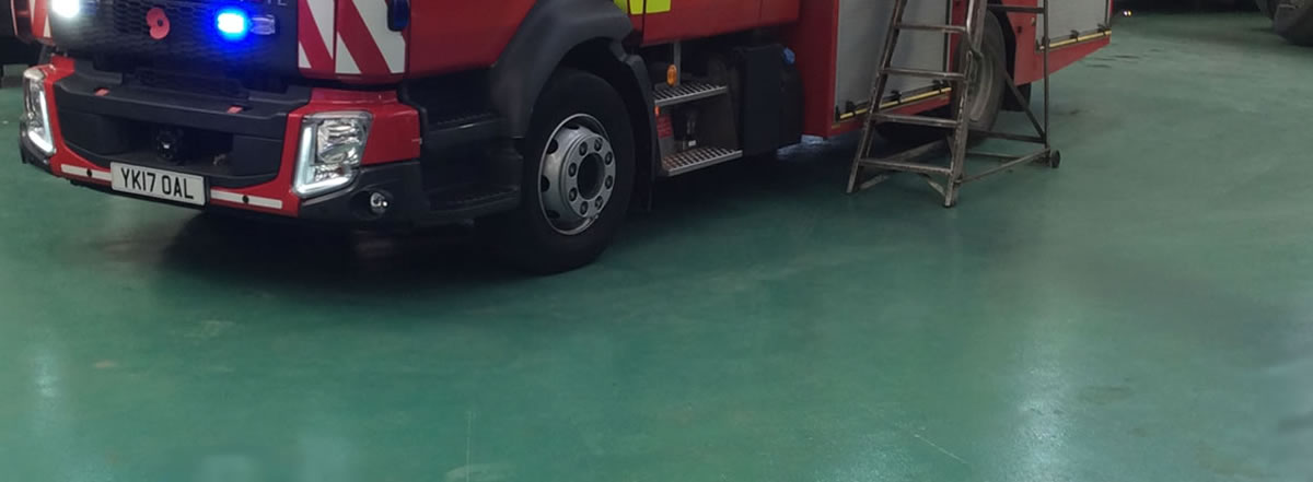 resin flooring installed at West Yorkshire Fire and Rescue HQ